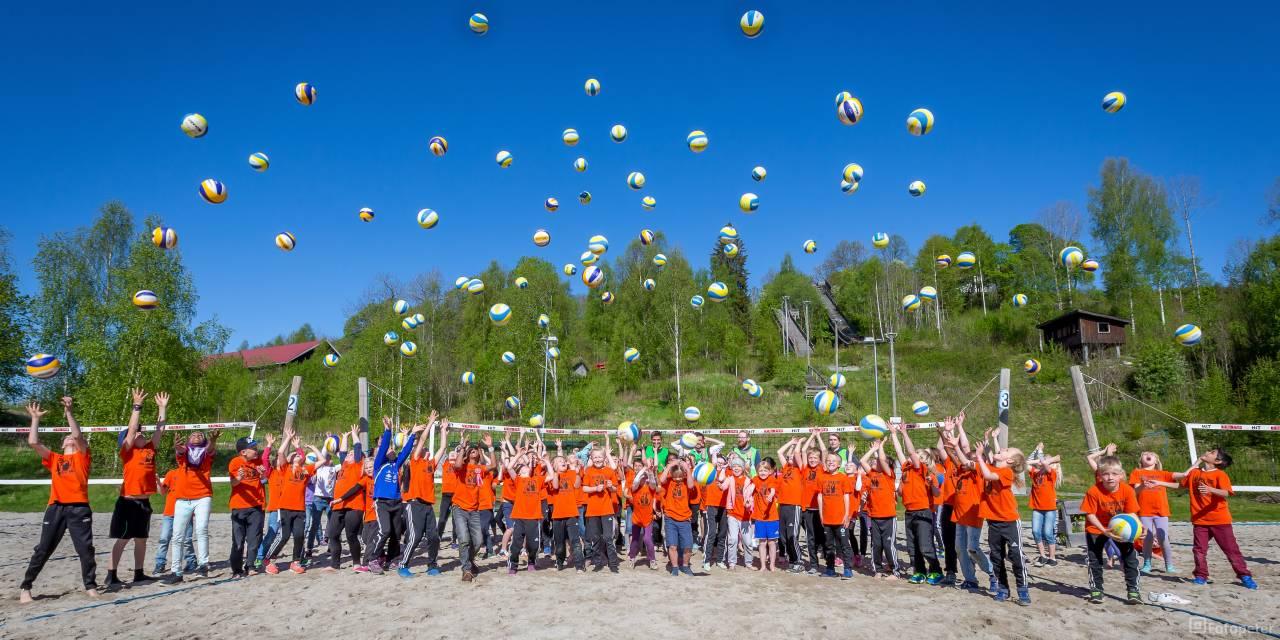Sandvolleyball skole på USN Cambus Bø